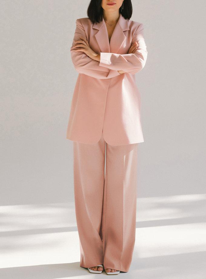 Однобортний костюм з прямими брюками MMT_098_014а_powder, фото 1 - в интернет магазине KAPSULA