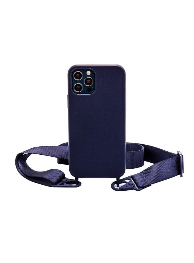Чехол на ремешке Navy Blue для iPhone NKR_NCRB_12_NB, фото 1 - в интернет магазине KAPSULA