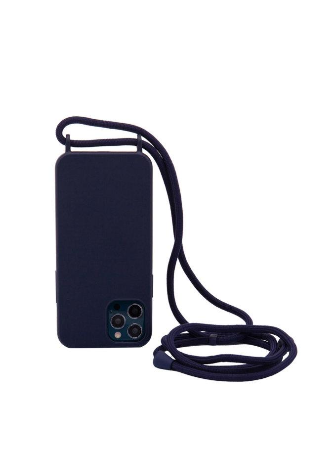 Чехол на шнуре Navy Blue для iPhone NKR_NCRR_12_NB, фото 1 - в интернет магазине KAPSULA