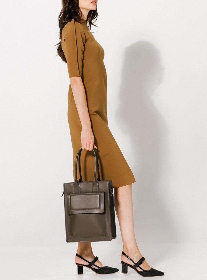 Платье с разрезом KLNA_Renata_umbra, фото 1 - в интернет магазине KAPSULA