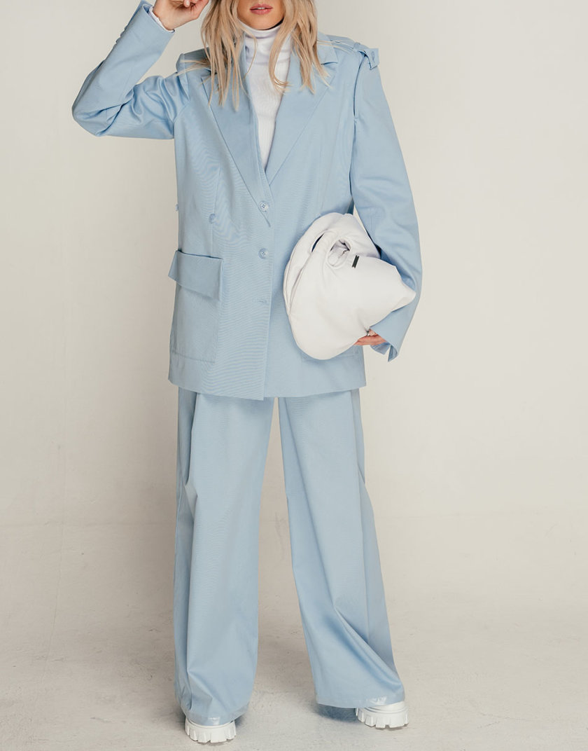 Хлопковые брюки палаццо SE_SE21-Pn-Metteniu-Bl, фото 1 - в интернет магазине KAPSULA