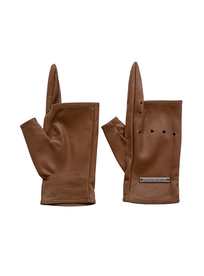 Рукавички без пальців Myrta SE_SE21-Gl-Myrta-Br, фото 1 - в интернет магазине KAPSULA