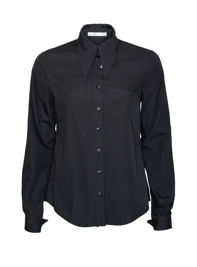 Хлопковая приталенная рубашка SE_SE21ShGunneB, фото 1 - в интернет магазине KAPSULA