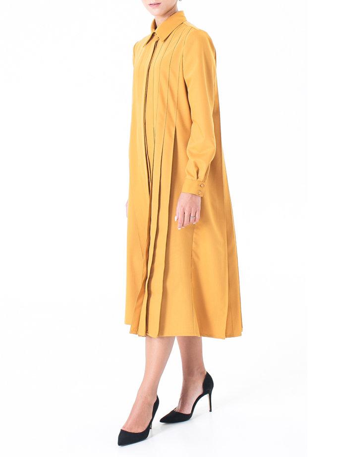 Платье миди со складками ALOT_100513, фото 1 - в интернет магазине KAPSULA