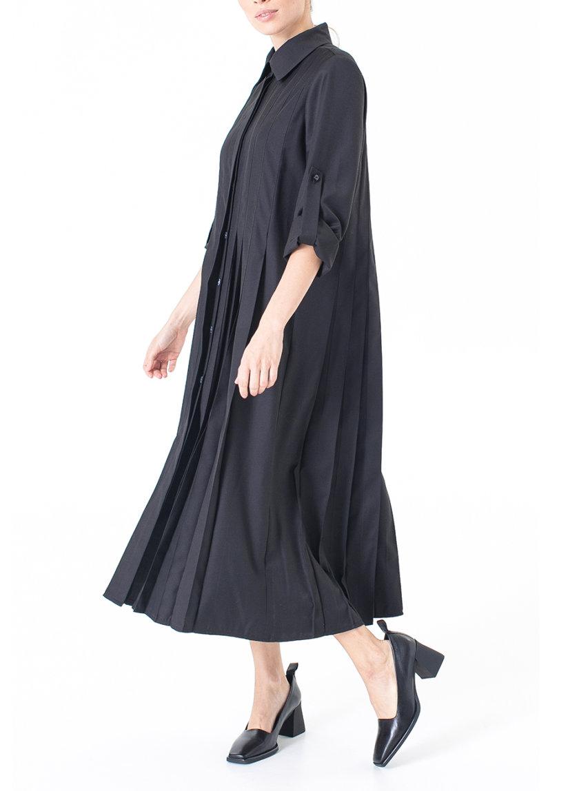 Костюмное платье со складками ALOT_100515, фото 1 - в интернет магазине KAPSULA