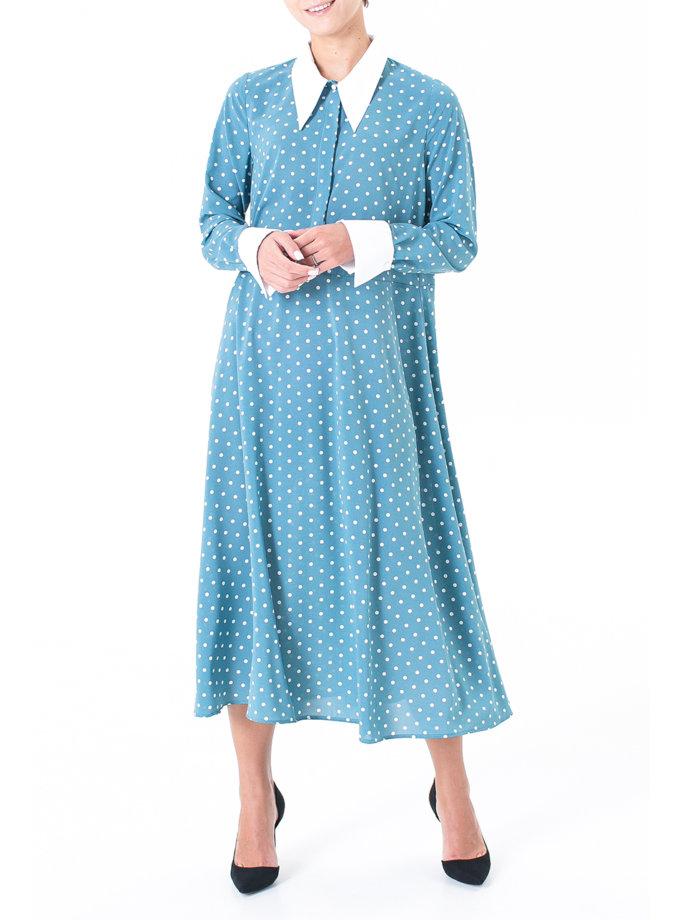 Платье миди в горошек ALOT_100508, фото 1 - в интернет магазине KAPSULA