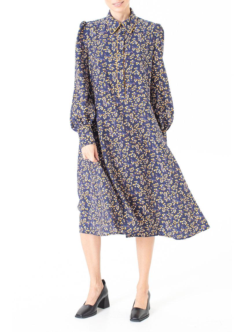 Платье миди в цветочный принт ALOT_100510, фото 1 - в интернет магазине KAPSULA