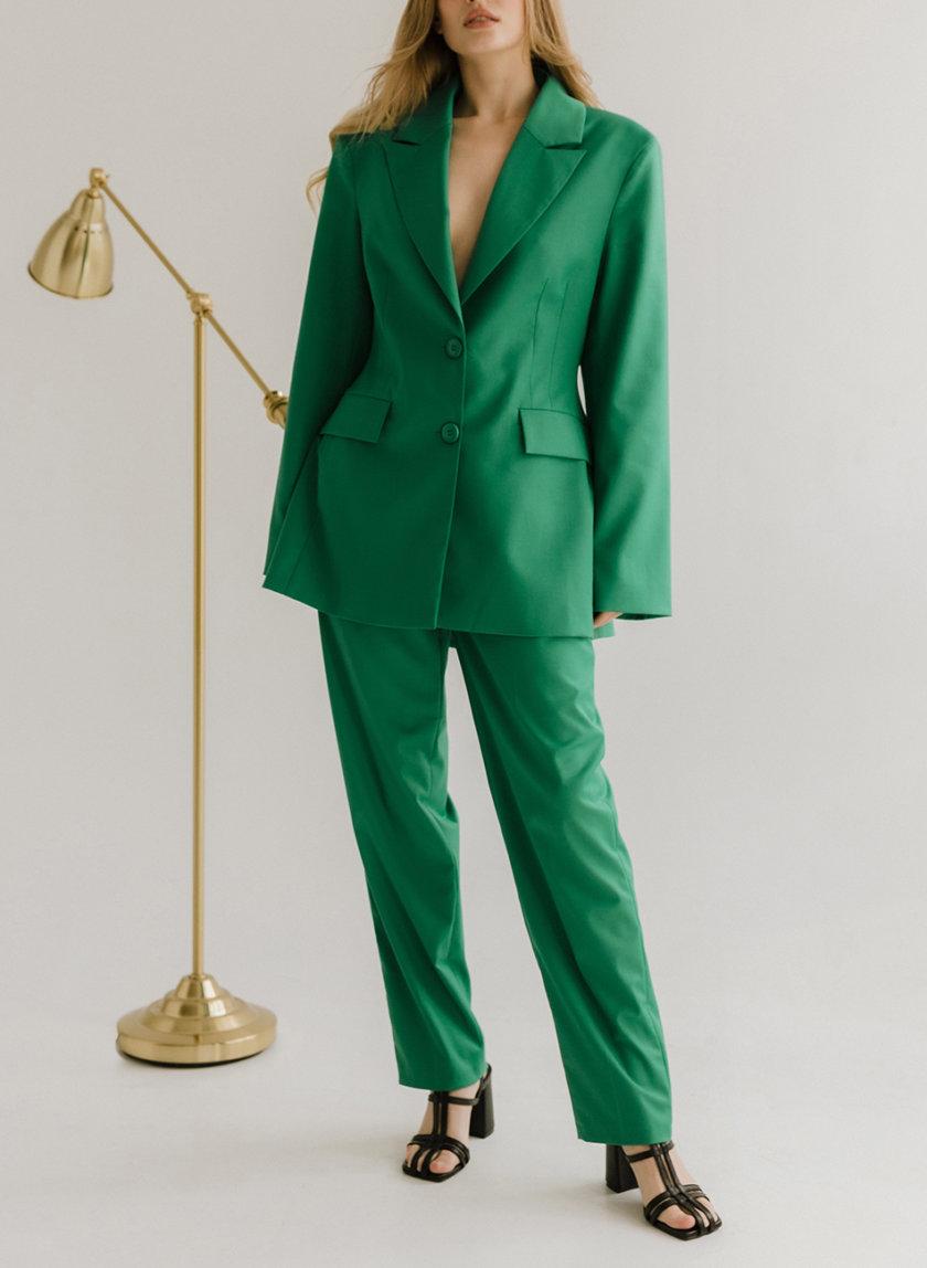 Костюм с жакетом и прямыми брюками TOTE_FW22-S02, фото 1 - в интернет магазине KAPSULA