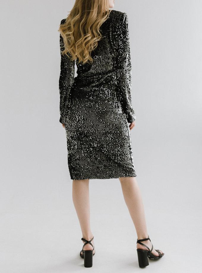 Платье миди в пайетки TOTE_FW20-D02, фото 1 - в интернет магазине KAPSULA