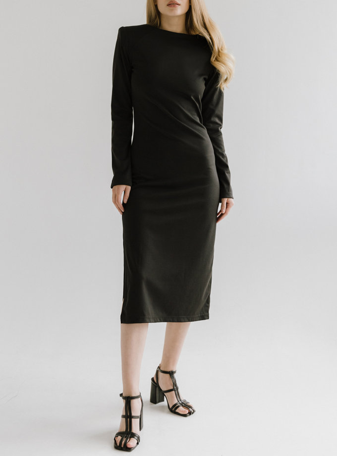 Платье миди с плечиками TOTE_FW20-D03, фото 1 - в интернет магазине KAPSULA