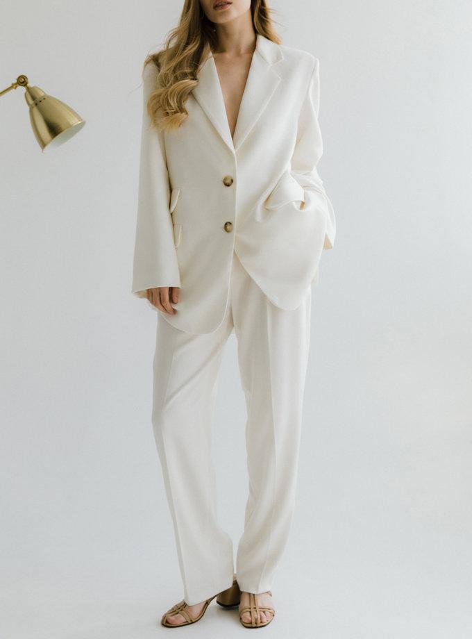 Костюм с жакетом и прямыми брюками TOTE_FW22-S01, фото 1 - в интернет магазине KAPSULA