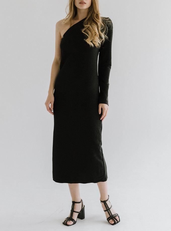 Платье из люрекса на одно плече TOTE_FW20-D01, фото 1 - в интернет магазине KAPSULA