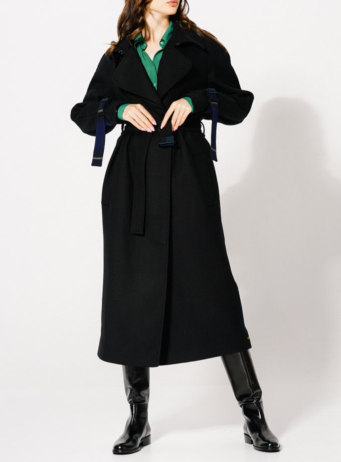 Пальто з вовни зі шліцою KLNA_Trench, фото 1 - в интернет магазине KAPSULA