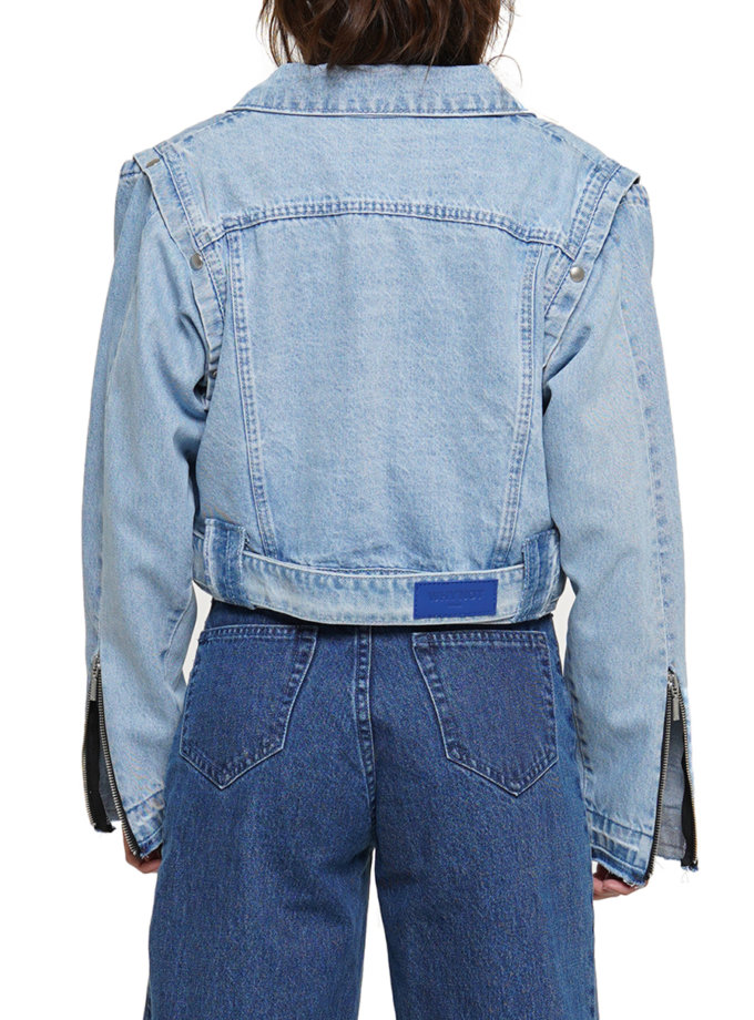 Куртка косуха WNDM_aut21-jc-blue, фото 1 - в интернет магазине KAPSULA