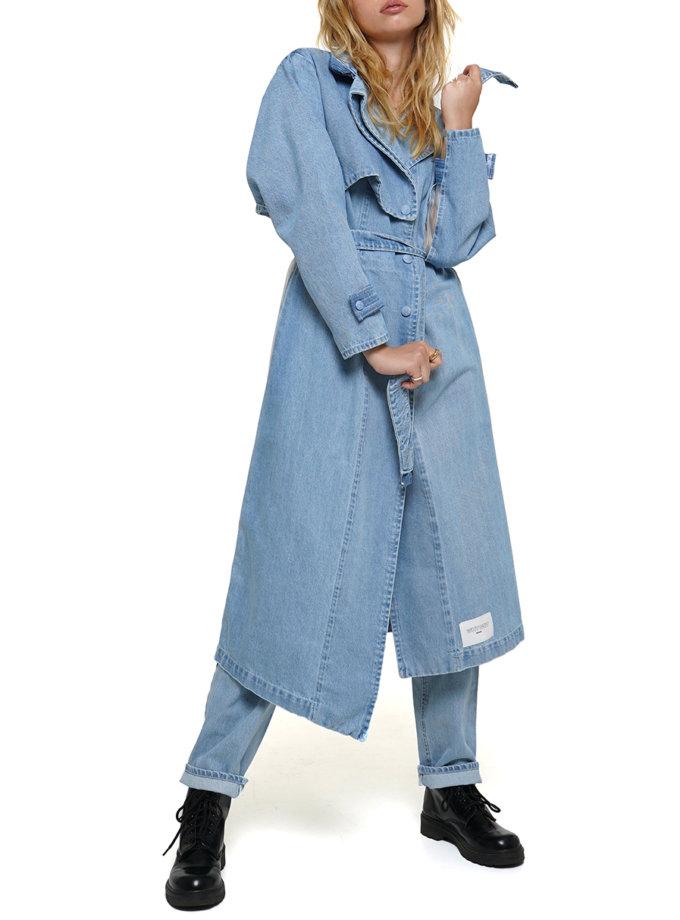 Тренч джинсовый WNDM_aut21-trnch-blue, фото 1 - в интернет магазине KAPSULA
