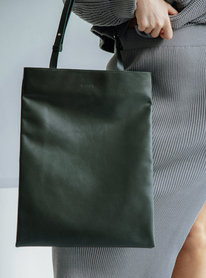 Кожаная сумка Grand Khaki ETP_Grand-Khaki, фото 1 - в интернет магазине KAPSULA