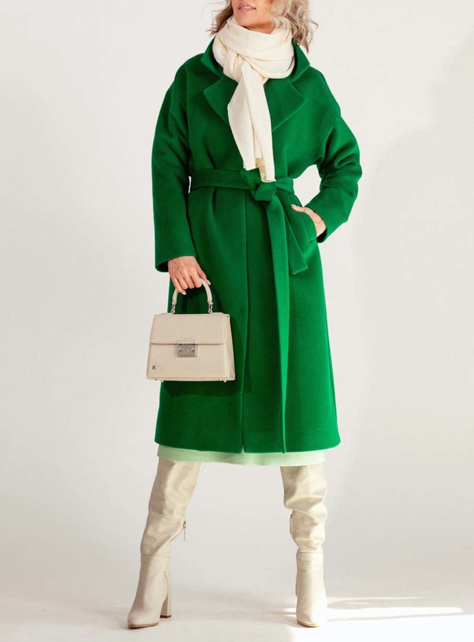 Пальто з вовни MMT_093_green_leprechaun, фото 1 - в интернет магазине KAPSULA