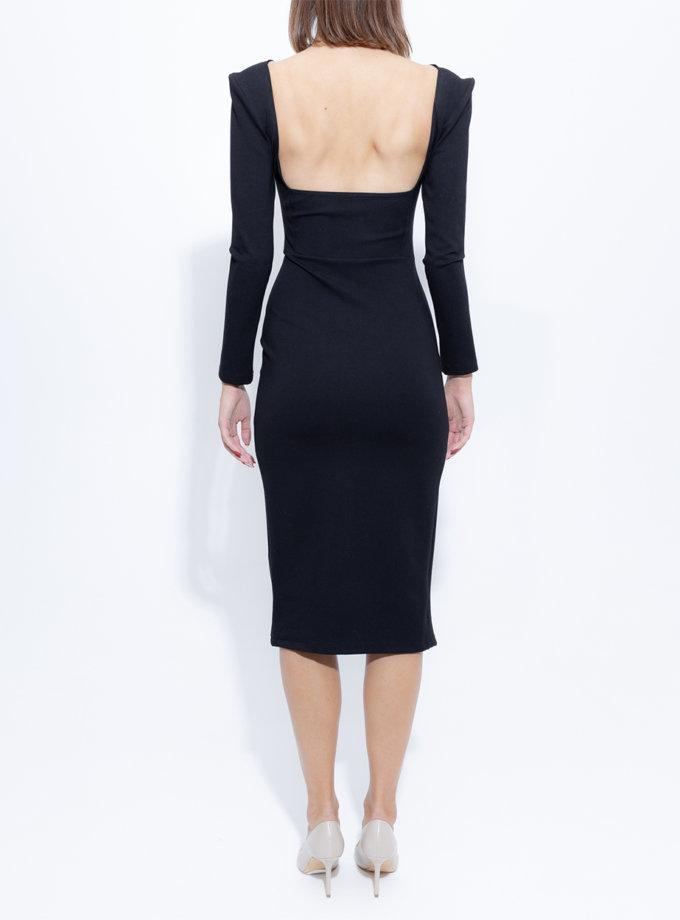 Хлопковое платье с открытой спиной SLR_FW_22_3, фото 1 - в интернет магазине KAPSULA