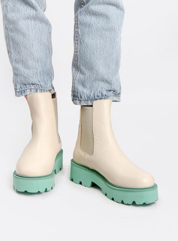 Кожаные ботинки CRS_21-01852, фото 1 - в интернет магазине KAPSULA