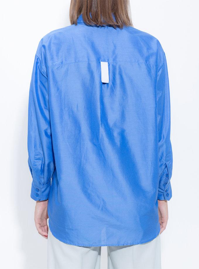 Шелковая рубашка oversize SLR_FW_22_5, фото 1 - в интернет магазине KAPSULA