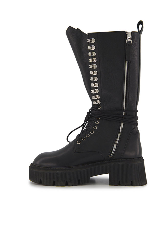Ботинки на шнуровке Lara Black MRSL_192112, фото 1 - в интернет магазине KAPSULA