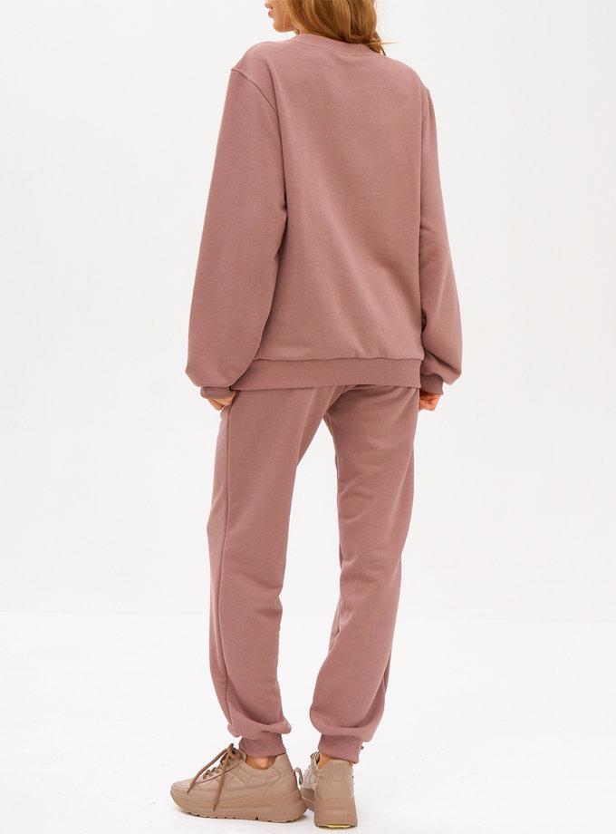 Комплект casual из хлопка SNDR_FWN7-pink, фото 1 - в интернет магазине KAPSULA