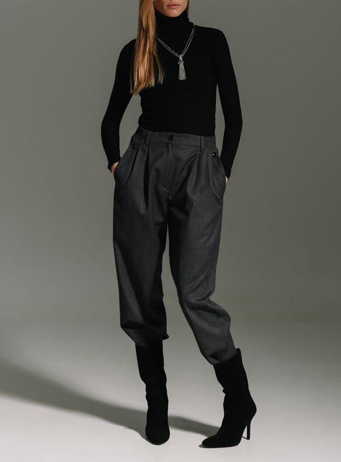 Прямые брюки из шерсти NOMA_12021, фото 1 - в интернет магазине KAPSULA