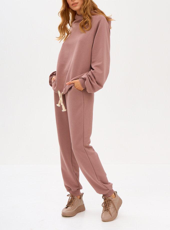 Комплект casual из хлопка SNDR_FWN9-pink, фото 1 - в интернет магазине KAPSULA