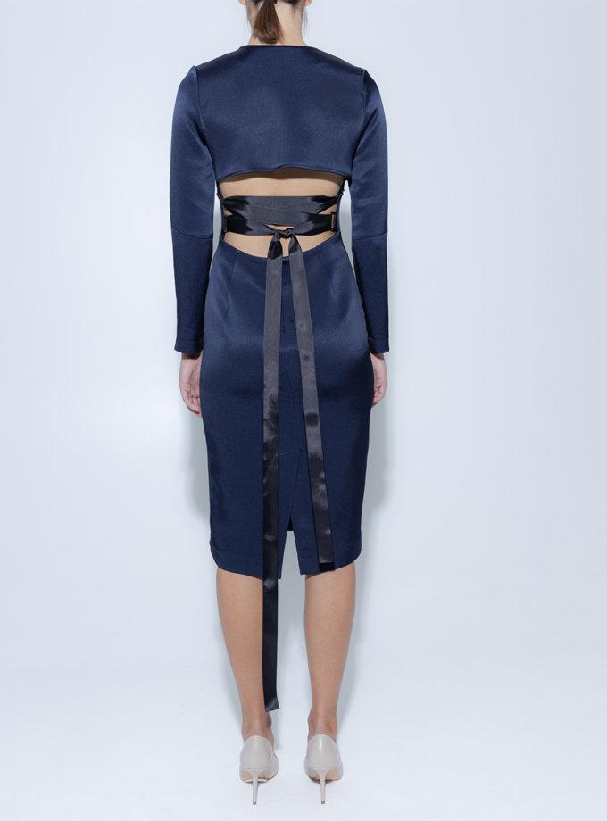 Платье миди со шнуровкой на спине SLR_FW_22_11, фото 1 - в интернет магазине KAPSULA