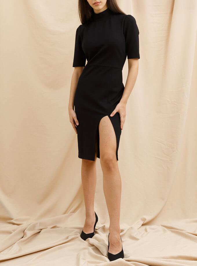 Платье с разрезом VONA_FW_21_22_64, фото 1 - в интернет магазине KAPSULA