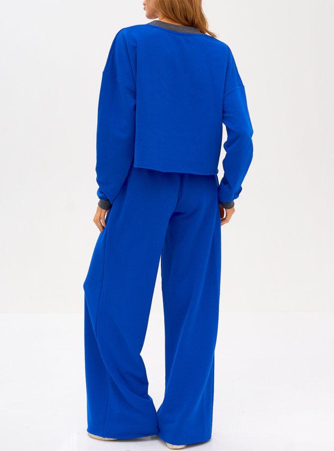 Хлопковый комплект с брюками и свитшотом SNDR_FWN15-blue, фото 1 - в интернет магазине KAPSULA