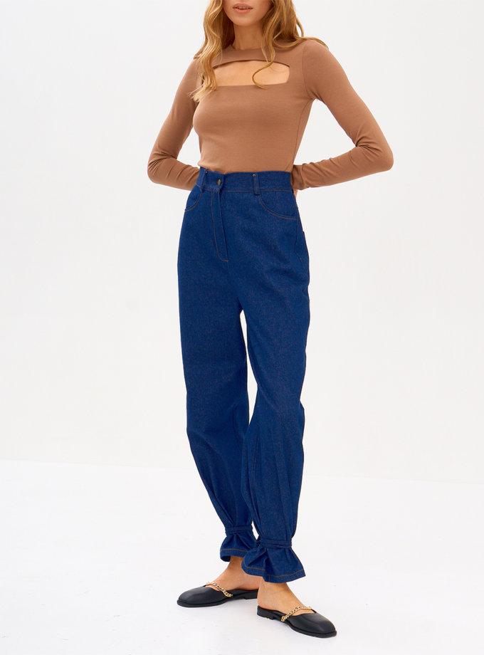 Широкі джинси з високою посадкою SNDR_FWN18-blue, фото 1 - в интернет магазине KAPSULA