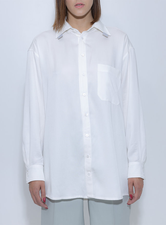 Рубашка oversize SLR_FW_22_17, фото 1 - в интернет магазине KAPSULA