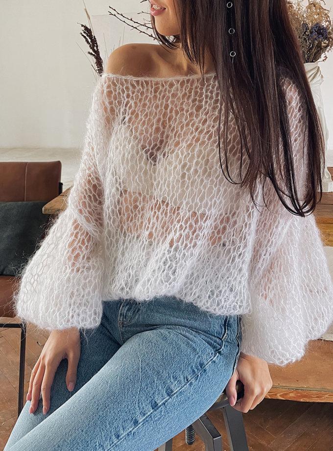 Объемный свитер из мохера WN_AIM-01, фото 1 - в интернет магазине KAPSULA