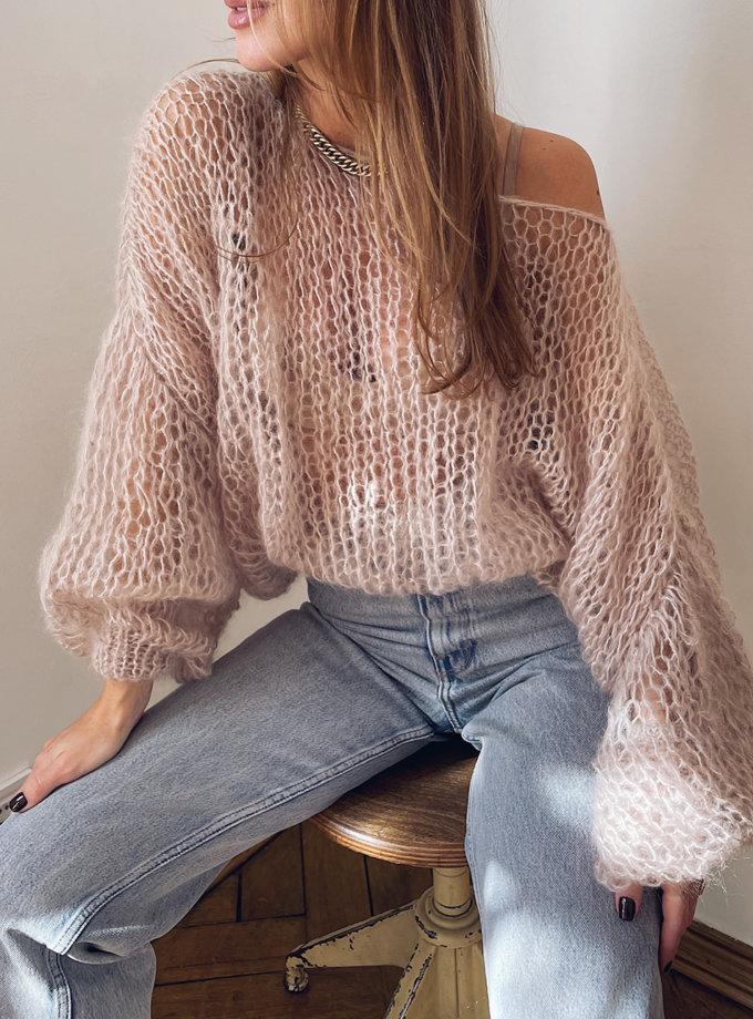 Объемный свитер из мохера WN_AIM-02, фото 1 - в интернет магазине KAPSULA