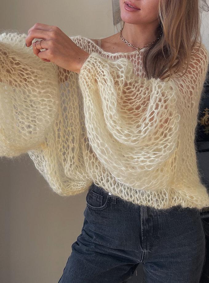 Объемный свитер из мохера WN_AIM-04, фото 1 - в интернет магазине KAPSULA