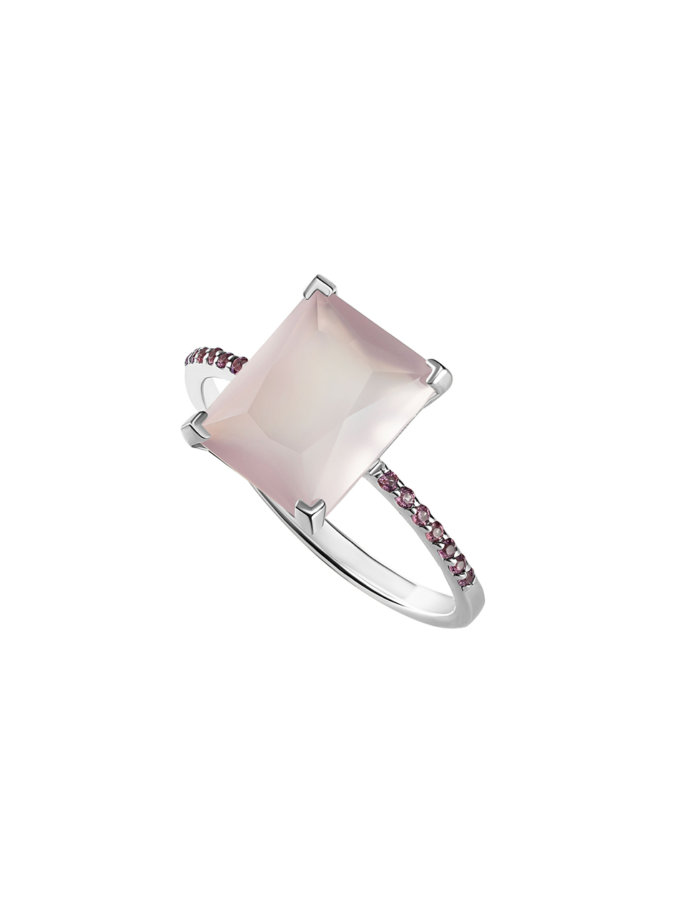 Кольцо с кварцем BRND_КРКДРС000010, фото 1 - в интернет магазине KAPSULA