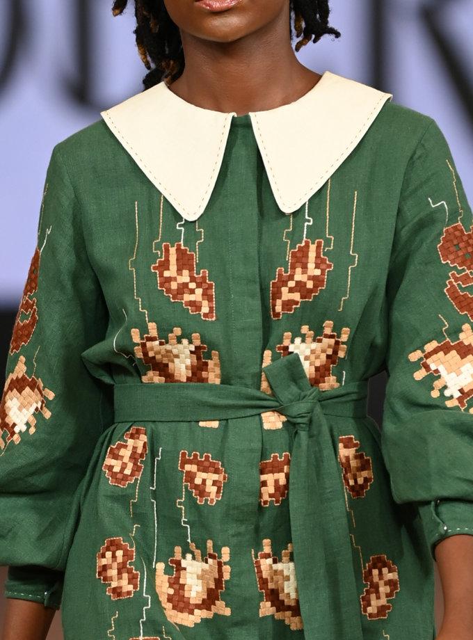 Лляна сукня міді Адель FOBERI_FW21002, фото 1 - в интернет магазине KAPSULA