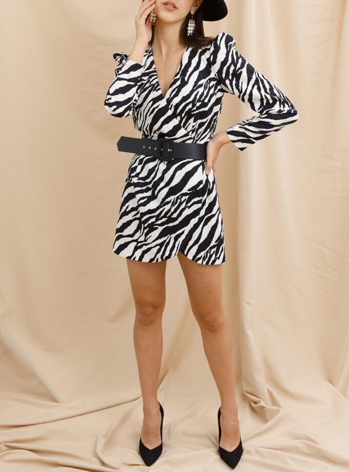 Платье мини в принт VONA_FW_21_22_41, фото 1 - в интернет магазине KAPSULA
