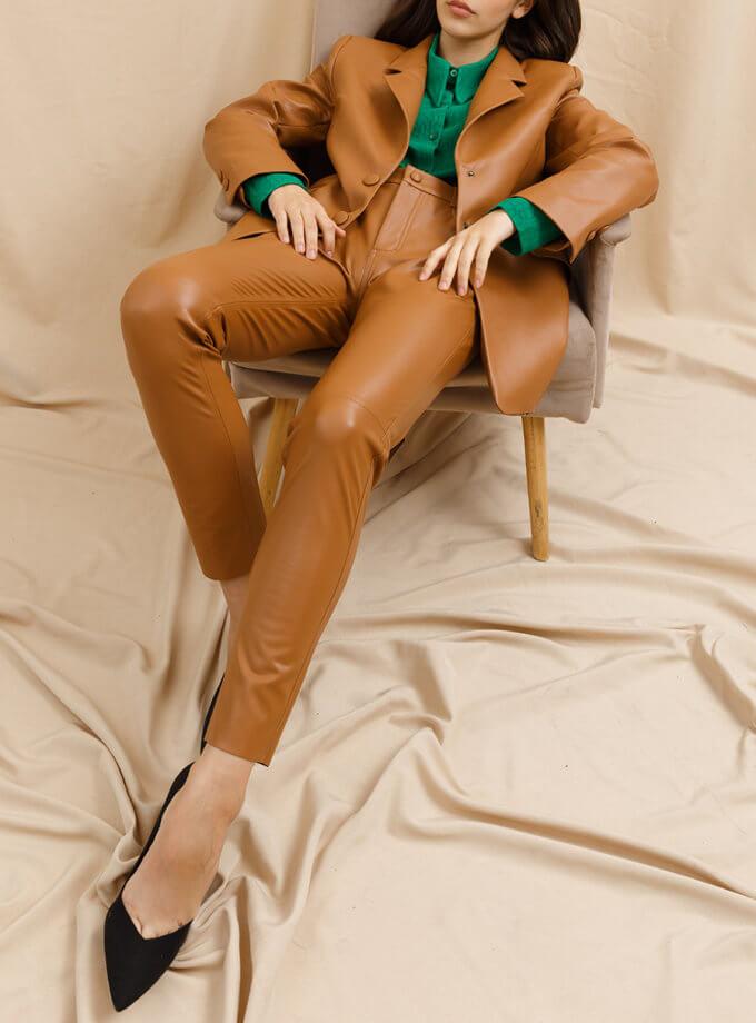 Брюки узкие из эко-кожи VONA_FW_21_22_59, фото 1 - в интернет магазине KAPSULA