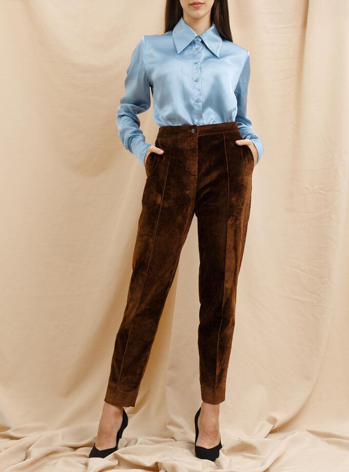 Вельветовые брюки VONA_FW_21_22_48, фото 1 - в интернет магазине KAPSULA