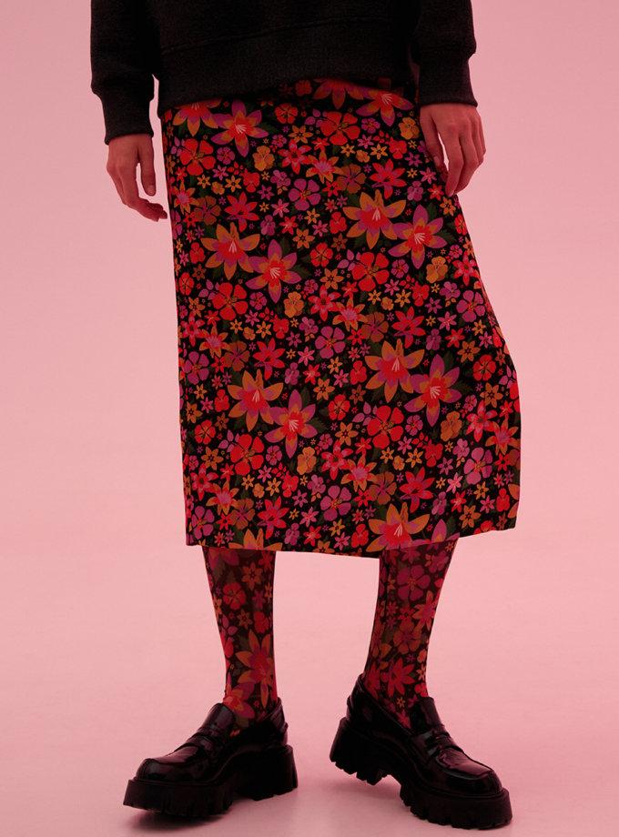 Юбка в цветочный принт SAYYA_FW1202, фото 1 - в интернет магазине KAPSULA