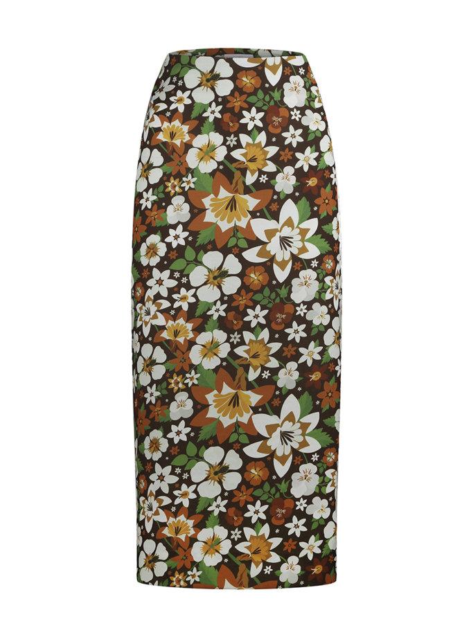 Юбка в цветочный принт SAYYA_FW1202/1, фото 1 - в интернет магазине KAPSULA