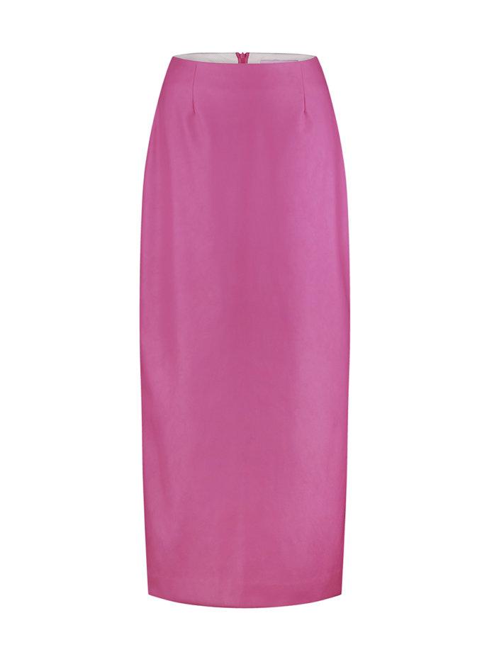 Юбка из эко-кожи pink SAYYA_FW1208, фото 1 - в интернет магазине KAPSULA
