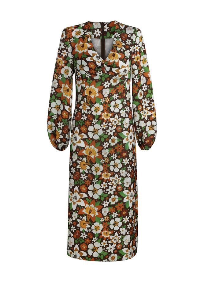 Платье в цветочный принт SAYYA_FW1212/1, фото 1 - в интернет магазине KAPSULA