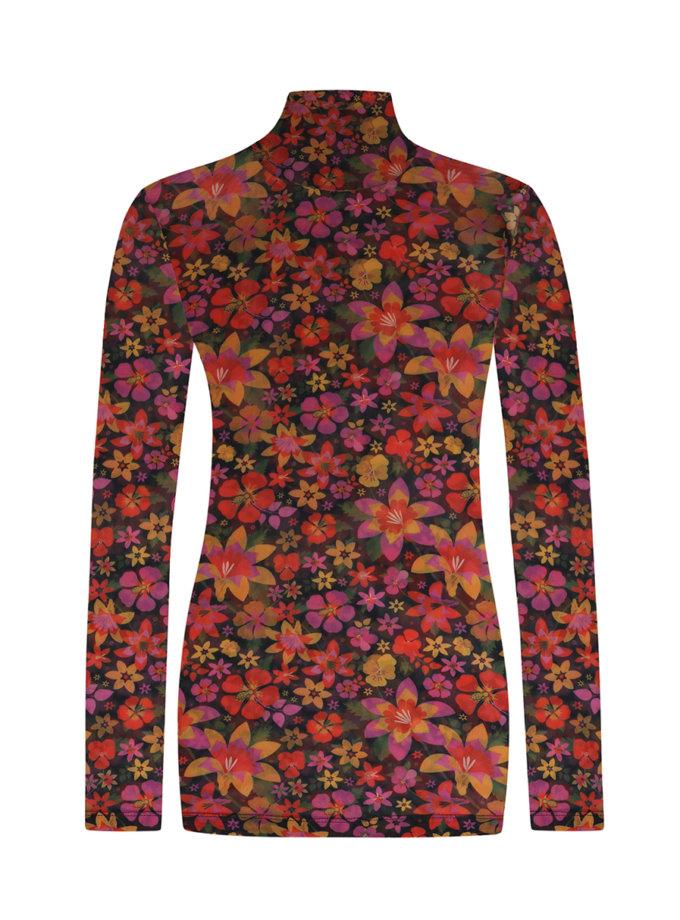 Гольф-сетка в цветочный принт SAYYA_FW1213, фото 1 - в интернет магазине KAPSULA