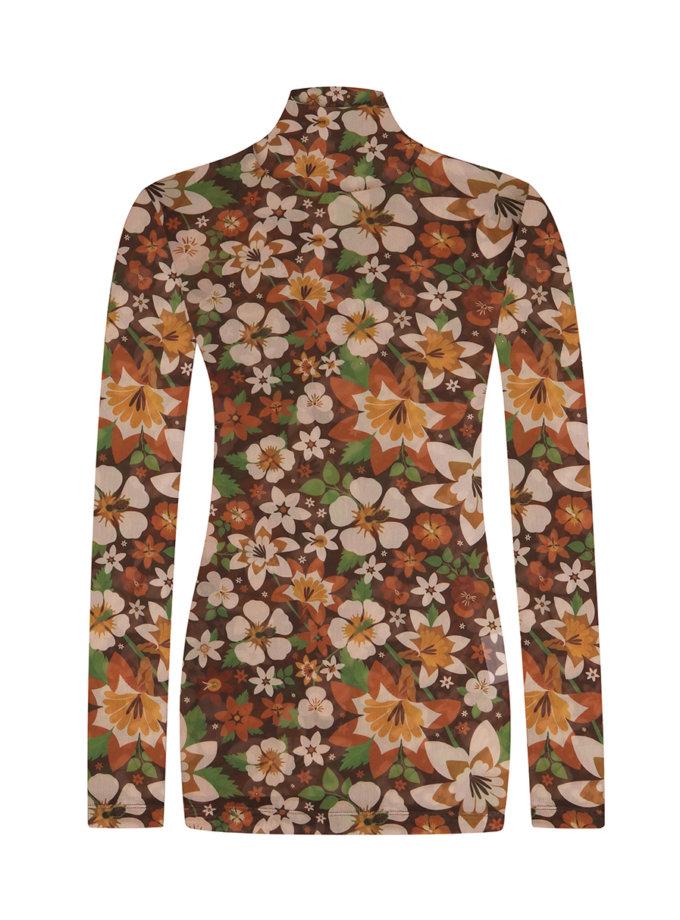 Гольф-сетка в цветочный принт FW1213/1, фото 1 - в интернет магазине KAPSULA