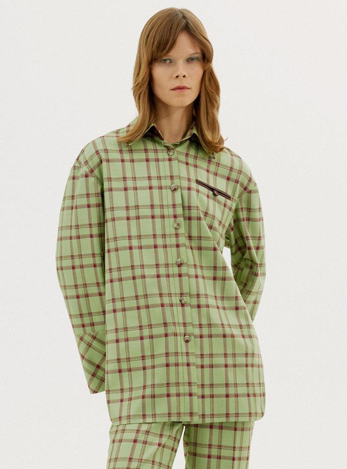 Рубашка в клетку FW1214, фото 1 - в интернет магазине KAPSULA