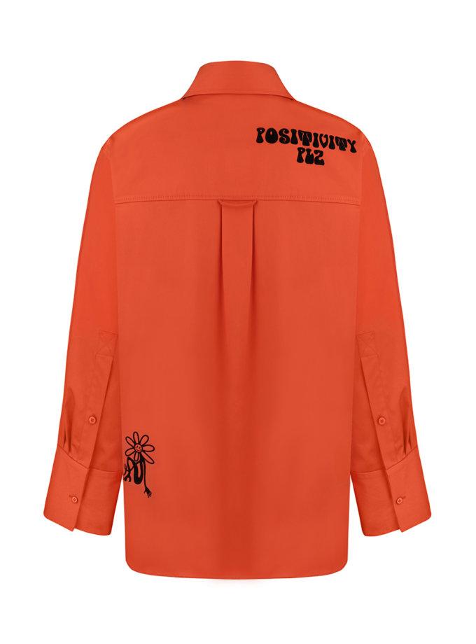 Рубашка oversize с принтом SAYYA_FW1210, фото 1 - в интернет магазине KAPSULA