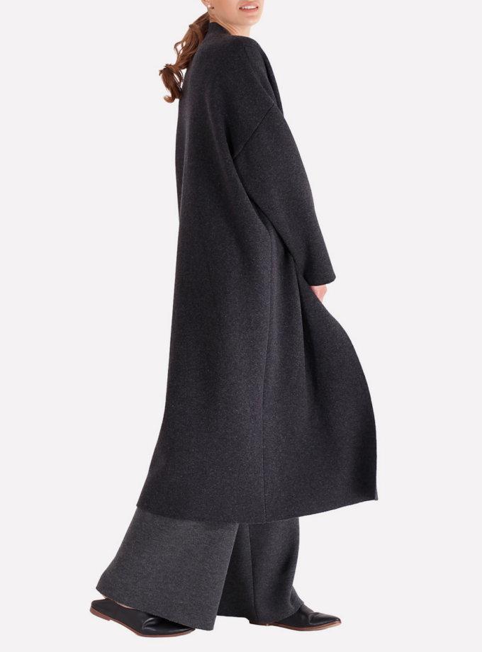 Вязаное пальто из мериносовой шерсти JND_16-012003, фото 1 - в интернет магазине KAPSULA